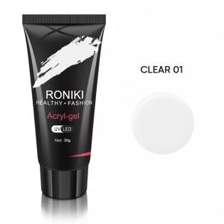 Acryl Gel Roniki 30G Clear 01