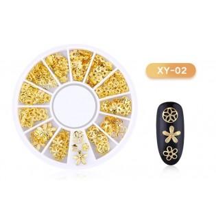 DISC 3D NAIL ART GOLD - 02