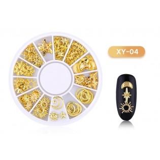 DISC 3D NAIL ART GOLD - 04