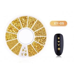 DISC 3D NAIL ART GOLD - 05