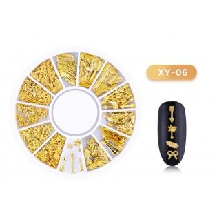 DISC 3D NAIL ART GOLD - 06