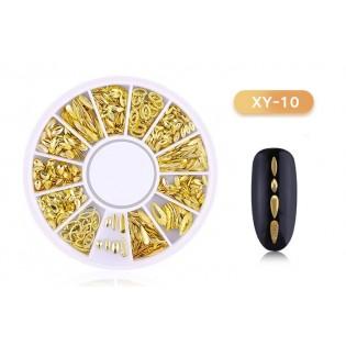 DISC 3D NAIL ART GOLD - 10