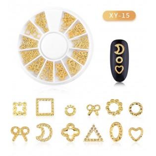 DISC 3D NAIL ART GOLD - 15