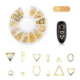 DISC 3D NAIL ART GOLD - 17